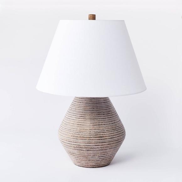 Threshold Other - Studio McGee Threshold ceramic table lamp tan